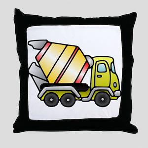 Cement Truck Throw Pillow