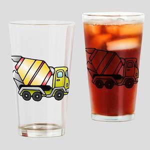 Cement Truck Drinking Glass