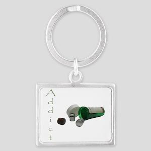 cache addict Landscape Keychain
