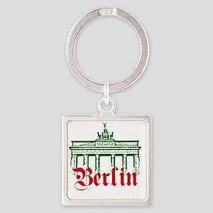 Berlin Brandenburg Gate Square Keychain