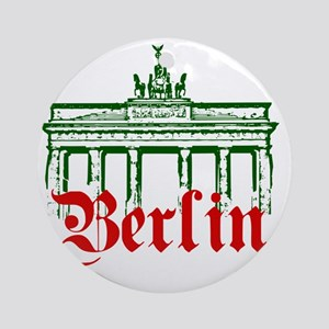 Berlin Brandenburg Gate Round Ornament
