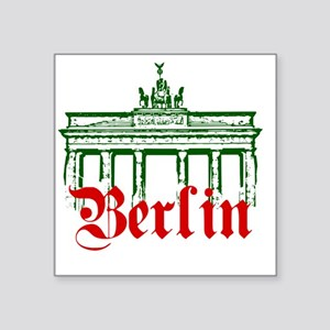 "Berlin Brandenburg Gate Square Sticker 3"" x 3"""