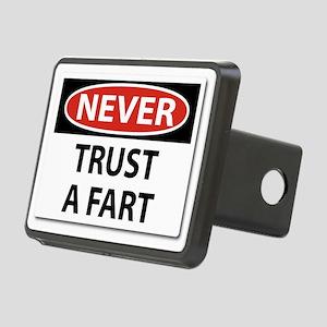 Never Trust A Fart Rectangular Hitch Cover