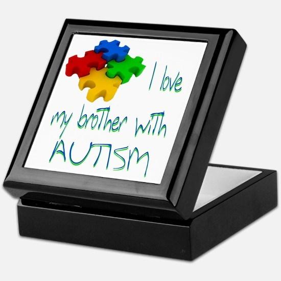 I love my bro autism Keepsake Box