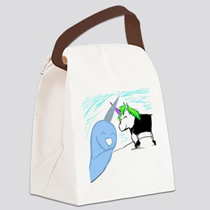 Dani and Neil the Narwhal Canvas Lunch Bag