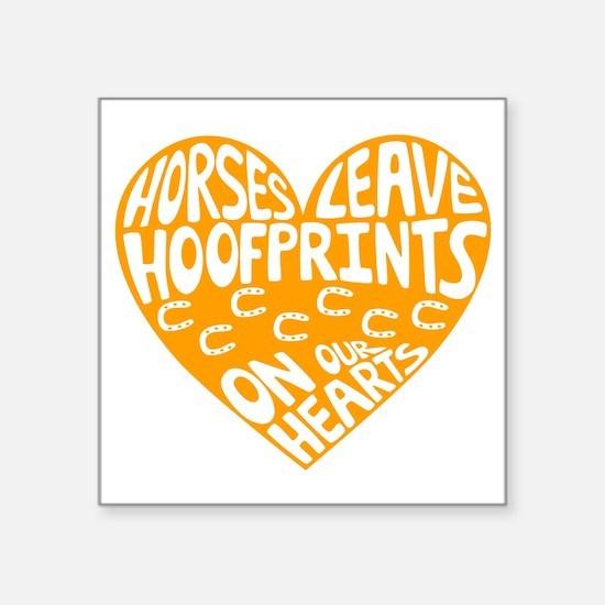 "Hoofprints Square Sticker 3"" x 3"""
