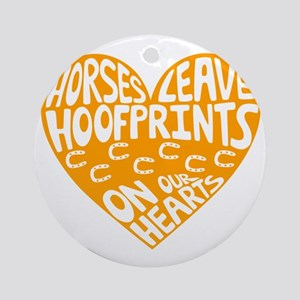 Hoofprints Round Ornament