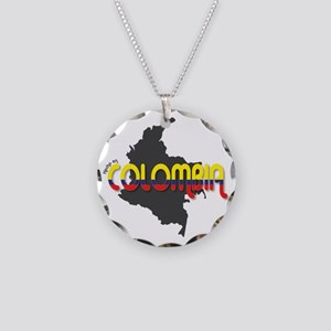 Hecho en Colombia Necklace Circle Charm