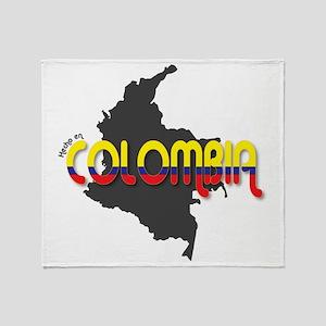 Hecho en Colombia Throw Blanket