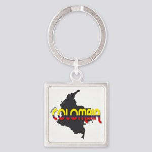 Hecho en Colombia Square Keychain