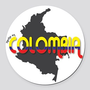 Hecho en Colombia Round Car Magnet