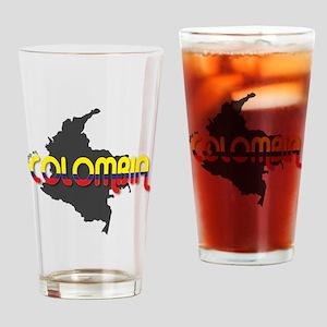 Hecho en Colombia Drinking Glass