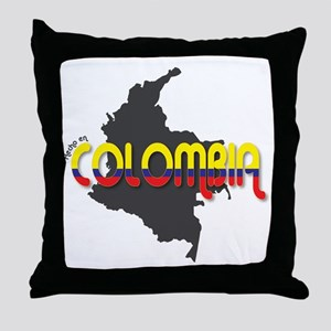Hecho en Colombia Throw Pillow