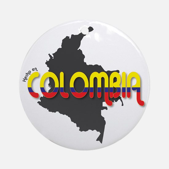 Hecho en Colombia Round Ornament