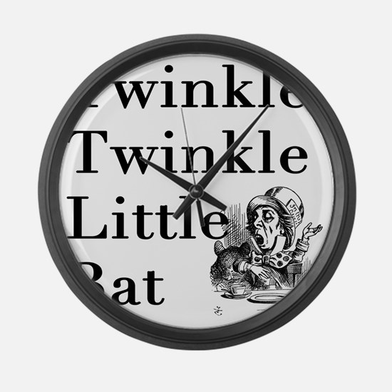 Mad Hatter- Twinkle Twinkle Littl Large Wall Clock