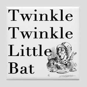 Mad Hatter- Twinkle Twinkle Little Ba Tile Coaster