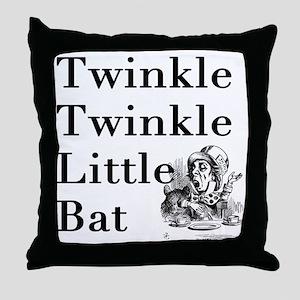 Mad Hatter- Twinkle Twinkle Little Ba Throw Pillow