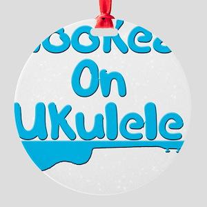 ukulele stringed instrument uke Round Ornament