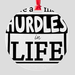 Hurdles Round Ornament