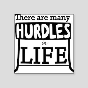 """Hurdles Square Sticker 3"""" x 3"""""""