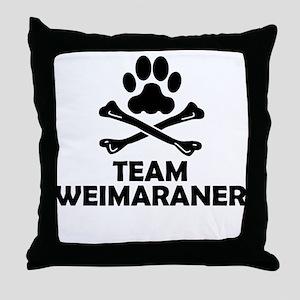 Team Weimaraner Throw Pillow
