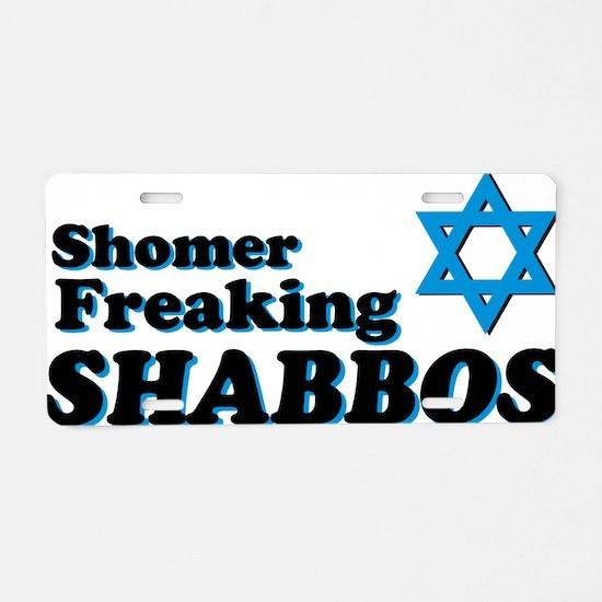 Shomer Shabbos Aluminum License Plate