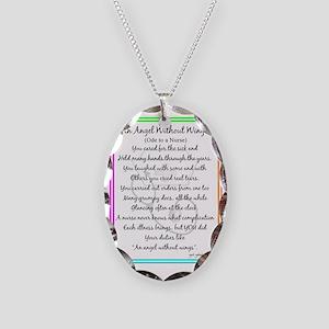 Nurse Poem Necklace Oval Charm