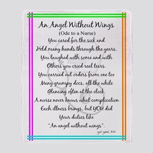 Nurse Poem Throw Blanket