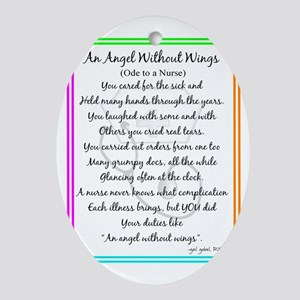 Nurse Poem Oval Ornament