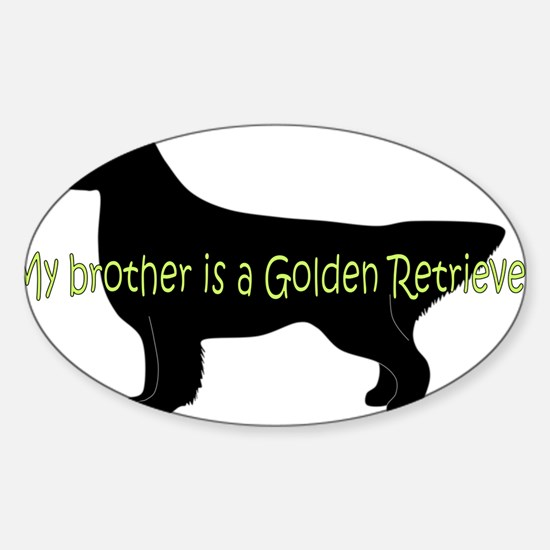 Golden_Brother Sticker (Oval)