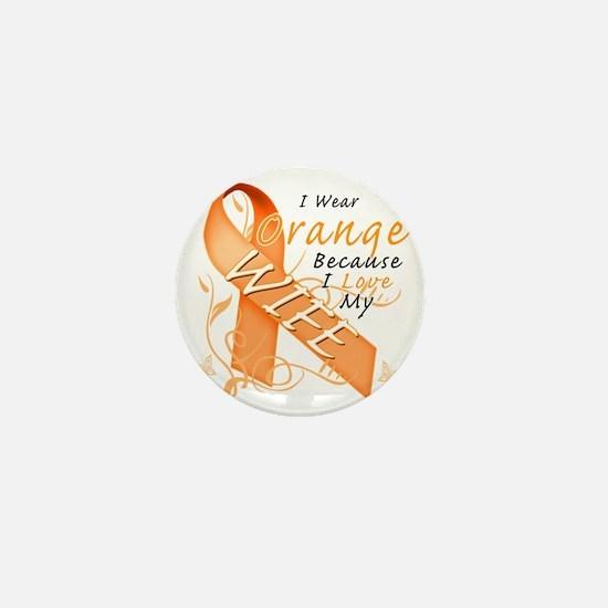 I Wear Orange Because I Love My Wife Mini Button