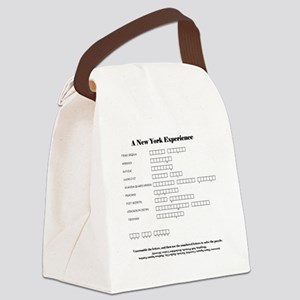 puzzle w answers Canvas Lunch Bag