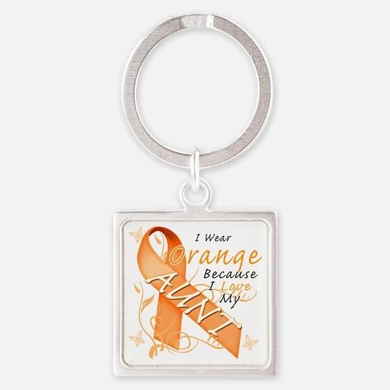 I Wear Orange Because I Love My Au Square Keychain