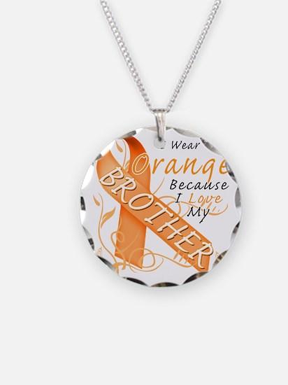 I Wear Orange Because I Love Necklace
