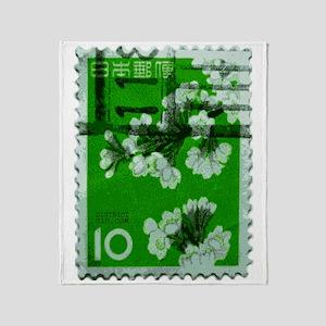 flower_green Throw Blanket