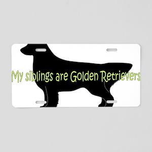Golden_Siblings Aluminum License Plate