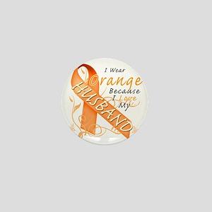 I Wear Orange Because I Love My Husban Mini Button