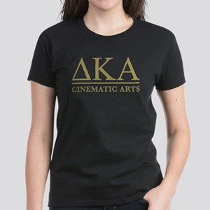 Delta Kappa Alpha Gold Letter Women's Dark T-Shirt
