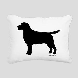 BlackLabSilhouette Rectangular Canvas Pillow