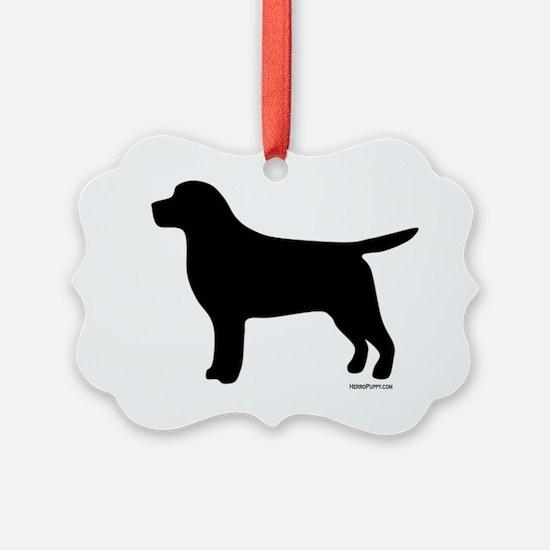 BlackLabSilhouette Ornament