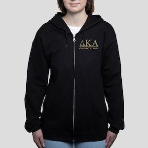 Delta Kappa Alpha Gold Letters Women's Zip Hoodie