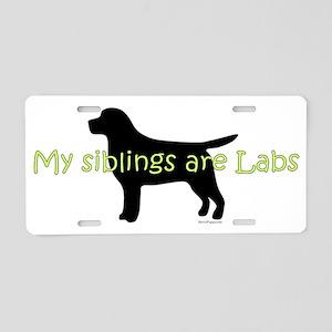 Lab_Siblings Aluminum License Plate