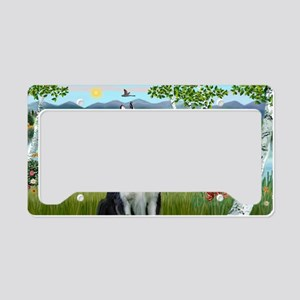 LIC-Birches - Siberian Husky License Plate Holder