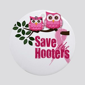 save the hooters 2 copy Round Ornament