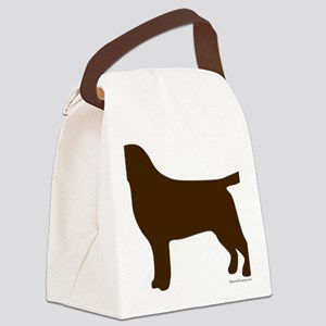 ChocolateLabSilhouette Canvas Lunch Bag