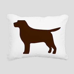 ChocolateLabSilhouette Rectangular Canvas Pillow