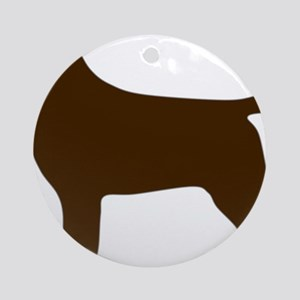ChocolateLabSilhouette Round Ornament
