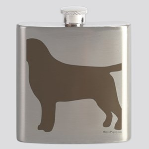 ChocolateLabSilhouette Flask