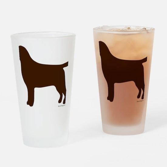 ChocolateLabSilhouette Drinking Glass