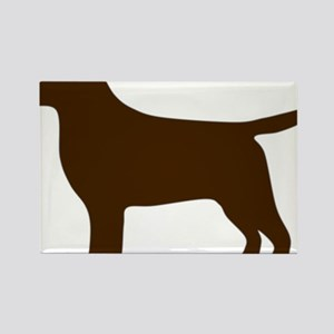 ChocolateLabSilhouette Rectangle Magnet